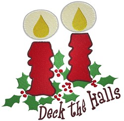 Two Christmas Candles embroidery design