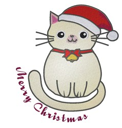 Merry Christmas Kitty embroidery design