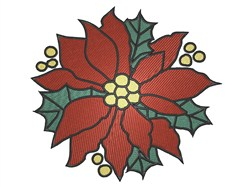 Poinsettia Bloom embroidery design