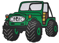 Toy Jeep embroidery design