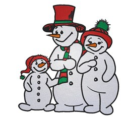 Snowman Family embroidery design