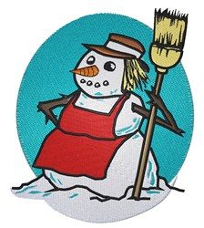 Snowwoman embroidery design