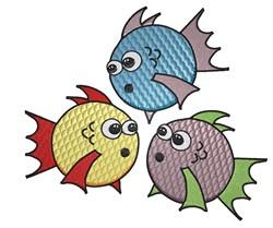 3 Cute Fish embroidery design