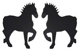 2 Horses embroidery design