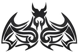 Tribal Bat embroidery design