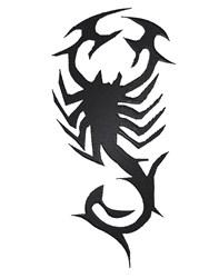 Tribal Scorpion embroidery design