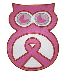 Cancer Owl embroidery design
