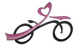 Awareness Bike embroidery design