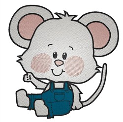 Sitting Mouse embroidery design