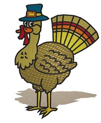 Turkey Pilgrim embroidery design