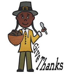 Thanks Pilgrim embroidery design