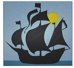Mayflower Silhouette embroidery design