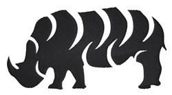 Rhinoceros tribal embroidery design