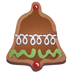 Gingerbread Bell embroidery design