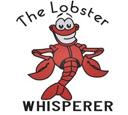 Lobster Whisperer embroidery design