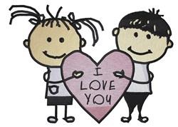Stick Kids Love embroidery design