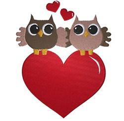 Valentine Owls embroidery design