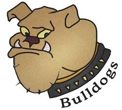 Mascot Bulldogs embroidery design