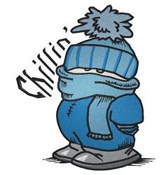 Chillin Boy embroidery design