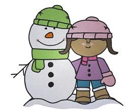 Snowman Girl embroidery design