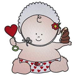 Baby Valentine embroidery design