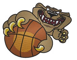 Basketball Tiger embroidery design