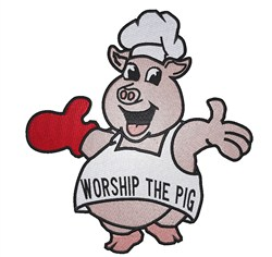 Worship the Pig embroidery design