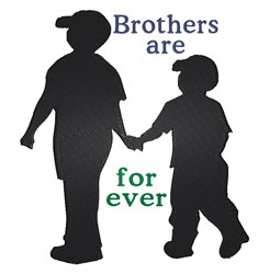 Brothers Are Forever embroidery design