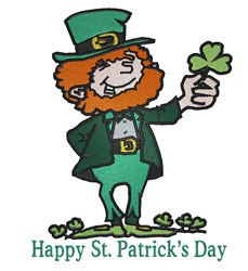 Happy St Patrick embroidery design