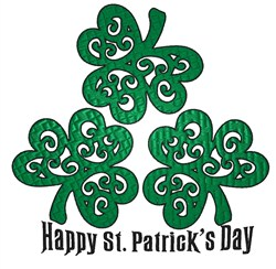 Happy St. Patricks Day embroidery design