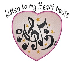 Musical Listen embroidery design