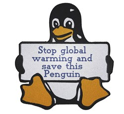 Save Penguins embroidery design