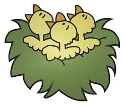 Birds Nest embroidery design