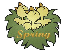 Spring Nest embroidery design