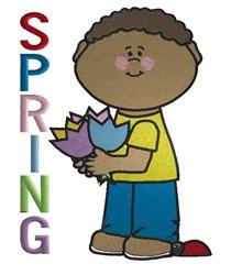 Spring Boy embroidery design