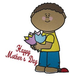 Mothers Day Boy embroidery design