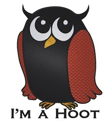 Owl Hoot embroidery design