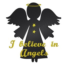 Believe in Angels embroidery design