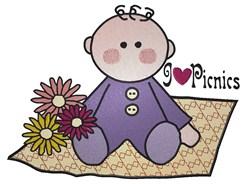 I love Picnics embroidery design