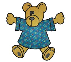 Teddy in T-shirt embroidery design