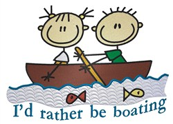 Rather Be Boating embroidery design