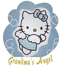 Hello Kitty Granmas Angel embroidery design