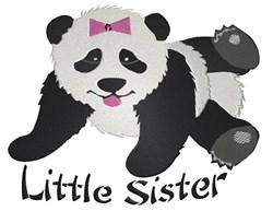 Panda Little Sister embroidery design