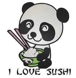 I Love Sushi embroidery design