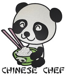 Chinese Panda Chef embroidery design