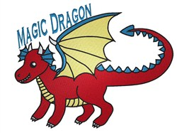 Magic Dragon embroidery design