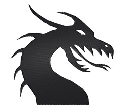 Dragon Silhouette embroidery design