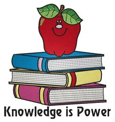 Knowledge is Power embroidery design