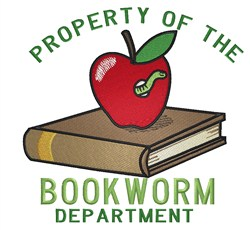Bookworm Property embroidery design