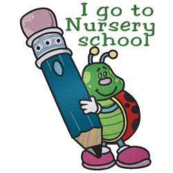 Ladybug Nursery School embroidery design